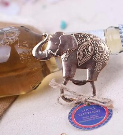 Lucky Golden Elephant Bottle Opener Gold Wedding Favors - AUSTRALIAN FAVORS