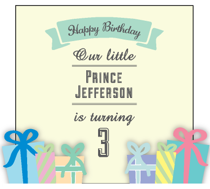Presents Galore! Birthday Party Personalised Favour Guest Gift Tag & Sticker - AUSTRALIAN FAVORS