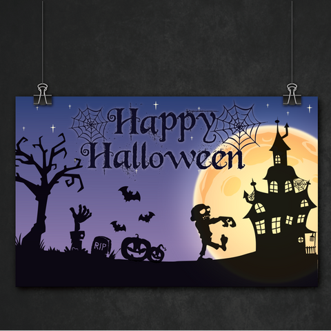 Spooky Night Halloween Party Personalised Giant Banner Decoration