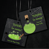 Witches' Brew Halloween Party Personalised Square Favour Tag & Sticker Favour Label