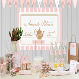 Lady Pink Kitchen Tea & Bridal Shower Square Thank You Favour Sticker & Tag - AUSTRALIAN FAVORS