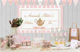 Lady Pink Personalised Straw Flags Kitchen Tea Party Decoration - AUSTRALIAN FAVORS
