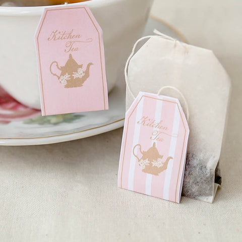 Lady Pink Kitchen Tea Bridal Shower Personalised Tea Bags Party Favour - AUSTRALIAN FAVORS