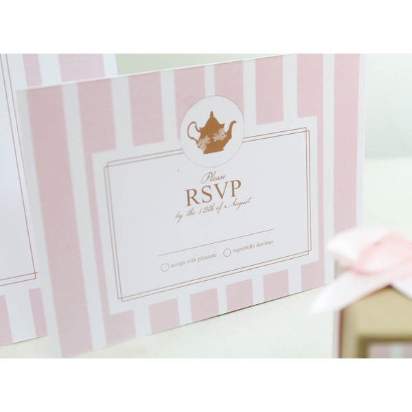 Lady Pink Personalised Kitchen Tea Bridal Shower Party RSVP Response Card - AUSTRALIAN FAVORS
