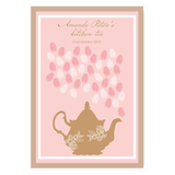 Lady Pink Fingerprint Personalised Bridal Shower Kitchen Tea Guest Book Poster with Frame - AUSTRALIAN FAVORS