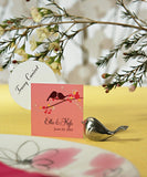 Love Birds Silver Wedding Place Card Holder Favours - AUSTRALIAN FAVORS