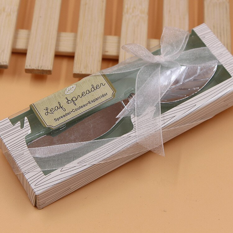 Chrome Leaf Butter Spreader Elegant Wedding Favour - AUSTRALIAN FAVORS