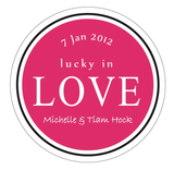 Lucky In Love Wedding Personalised Thank You Favour Sticker - AUSTRALIAN FAVORS