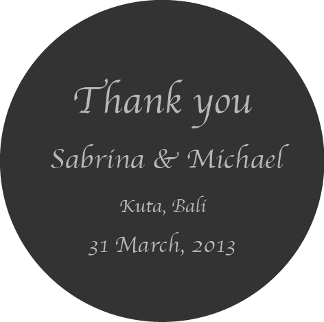 Minimalistic Wedding Bridal Shower Party Bomboniere Round Sticker Label - AUSTRALIAN FAVORS