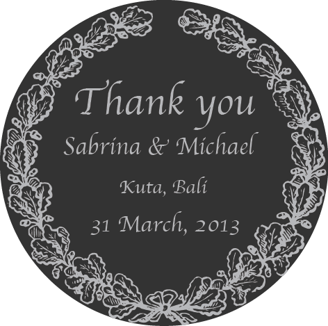 Minimalistic Graecan Border Personalised Wedding Favour Round Sticker Label - AUSTRALIAN FAVORS