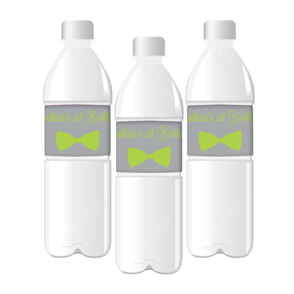My Little Man' Customized Bow Water Bottle Labels Boy's Party Boy's First Birthday Baby Shower Party Decoration - AUSTRALIAN FAVORS