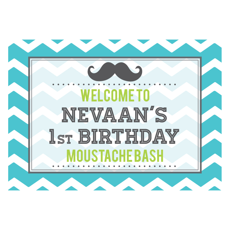 Personalized Little Man Theme Sign Baby Shower Decoration
