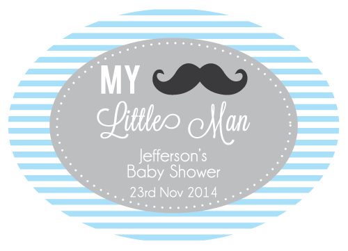 My Little Man Personalised Envelope Seal Boy's Baby Shower Supplies - AUSTRALIAN FAVORS