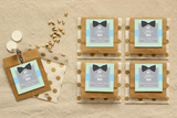 My Little Man Personalised Boy Baby Shower Square Favour Thank You Tag & Sticker Label - AUSTRALIAN FAVORS