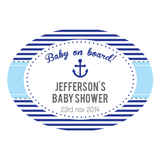 Nautical Sailor Personalised Boy Baby Shower Envelope Seal