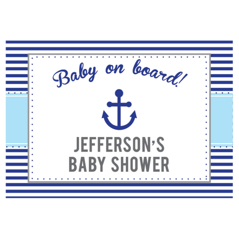 Nautical Sailboat Personalised Boy Baby Shower Baptism Greeting Sign Party Decoration - AUSTRALIAN FAVORS