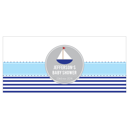 Nautical Sailor Personalised Napkin Band Boy Baby Shower Party Decorations - AUSTRALIAN FAVORS
