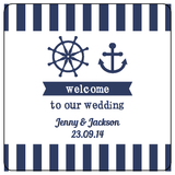 Nautical Anchor Beach Wedding Personalised Bomboniere Gift Tag & Sticker - AUSTRALIAN FAVORS
