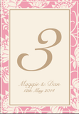 Olivia Classic Floral Wedding Table Number Stationery - AUSTRALIAN FAVORS