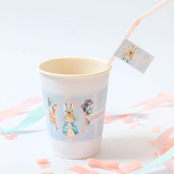 Peter Rabbit: Pastel Personalised Paper Cup Labels Baby Shower Party Supplies - AUSTRALIAN FAVORS