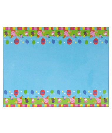 Peppa Pig Tablecover Baby's First Birthday Party Decoration