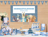 Peter Rabbit: Blue Personalised Giant Party Banner First Birthday Party Decoration