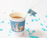 Peter Rabbit: Blue Personalised Paper Cup Labels Baby Shower Party Supplies - AUSTRALIAN FAVORS