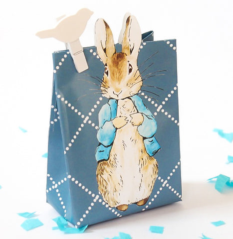Baby shower gift bags favour boxes mariko mango peter rabbit blue baby shower party favour loot gift bag negle Images