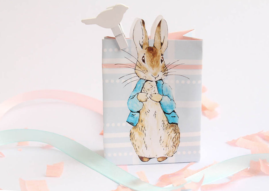 Peter Rabbit: Pastel Baby Shower Party Favour Loot Gift Bag - 10 Pack - AUSTRALIAN FAVORS