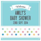 Polka Dots Baby Shower Personalised Favour Gift Tag & Sticker - AUSTRALIAN FAVORS