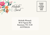 Pretty in Peach Botanica Wedding RSVP Reply Response Card - AUSTRALIAN FAVORS