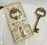Key to My Heart Gold Antique Key Bottle Opener Wedding Favour - AUSTRALIAN FAVORS
