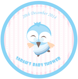 Owl Baby Shower Personalised Favour Thank You Sticker Label - AUSTRALIAN FAVORS