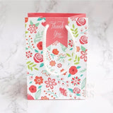 Vintage Florals Wedding Lolly Gift Favour Bags in White Rope Handle - 10 Pack