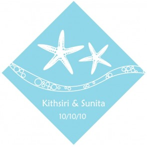 Starfish Beach Personalised Wedding Thank You Tag & Sticker Labels