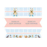 Peter Rabbit: Pastel Personalised Straw Flags Baby Shower Party Decorations - AUSTRALIAN FAVORS