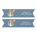 Peter Rabbit: Blue Personalised Straw Flags Baby Shower Party Decorations - AUSTRALIAN FAVORS
