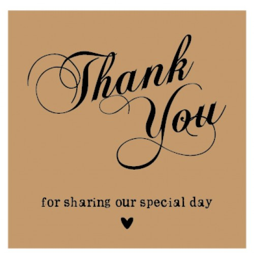 Vintage Brown Kraft Rustic Personalised Wedding Thank You Favour Gift Tags 3