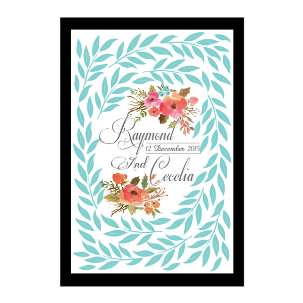 The Secret Garden Series Personalised Wedding Guest Book Alternative - Baby Blue Eyes