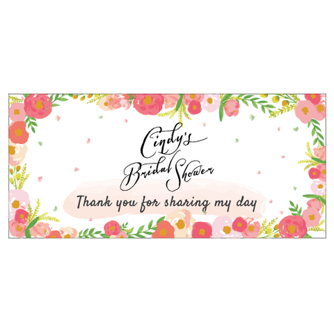 Vintage Floral Bridal Shower Wedding Personalised Napkin Band
