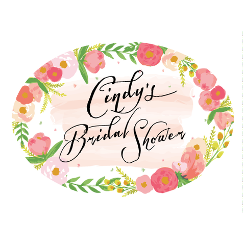 Vintage Floral Wedding Bridal Shower Personalised Envelope Seal