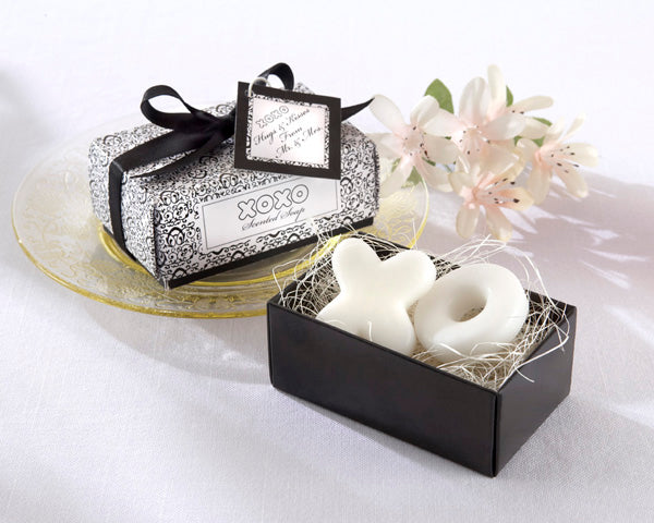 """Hugs & Kisses From Mr. and Mrs.!"" XOXO Scented Soap - AUSTRALIAN FAVORS"
