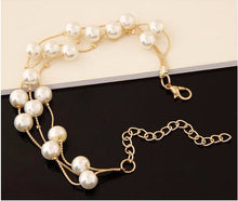 Imitation Pearl Double Layer Jewelry Set