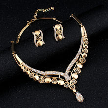 Fashion  Gold-Color Crystal Jewelry Set