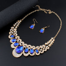 Fashion Navy Blue Crystal Jewelry Set
