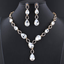 New Glass Charm Crystal Jewelry Set
