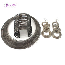 Fashion Metal Wire Torques Jewelry Set