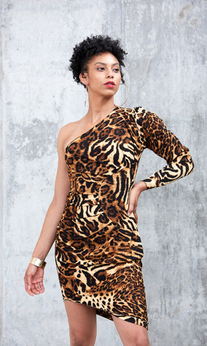 Safari Dress- Brown