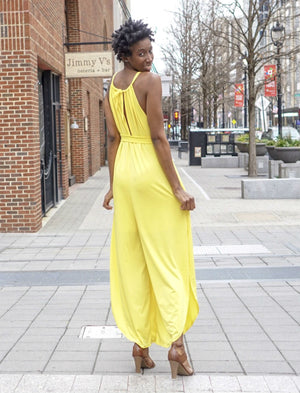 Open Leg Jumpsuit- Yellow