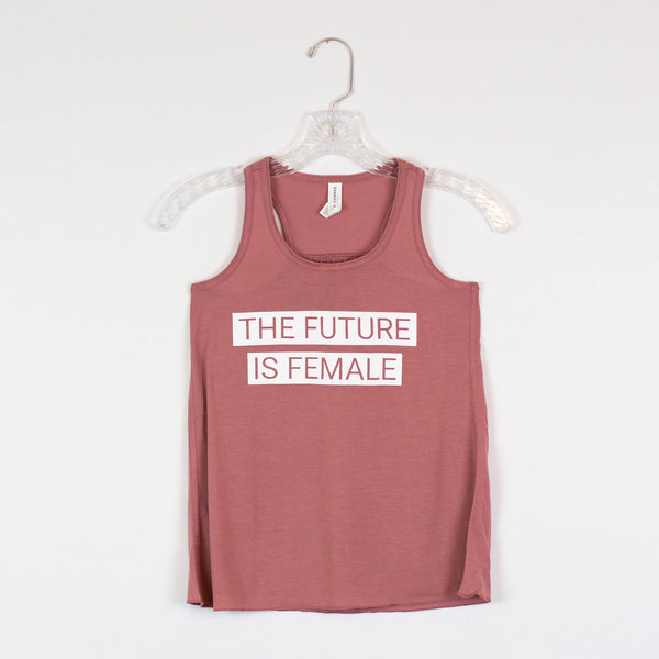 The Future Is Female Kids Racerback Tank